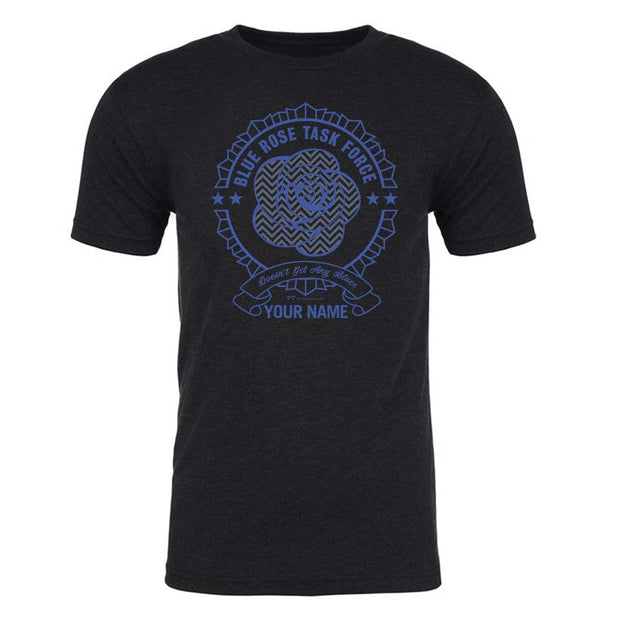 Twin Peaks Blue Rose Task Force Personalized Men's Tri-Blend T-Shirt