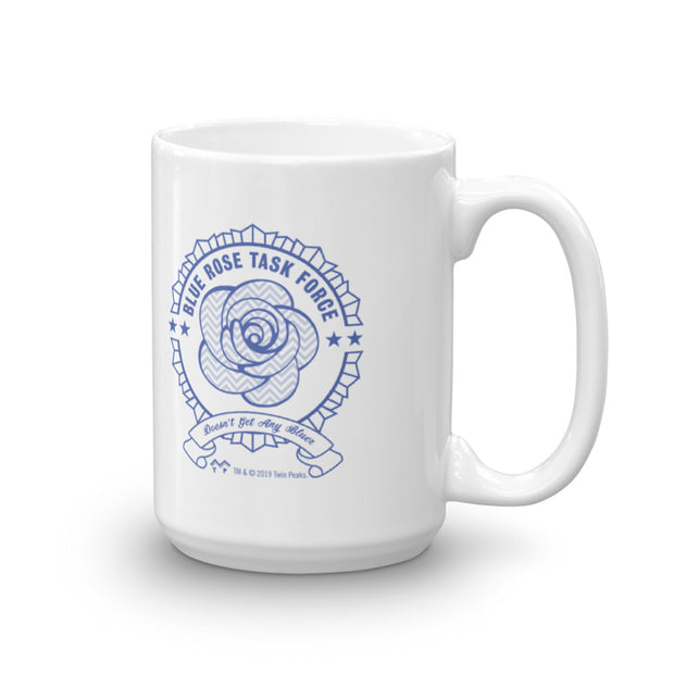 Twin Peaks Blue Rose Task Force Personalized White Mug