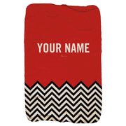 "Twin Peaks Red Room Chevron Personalized Sherpa Blanket - 37"" x 57"""