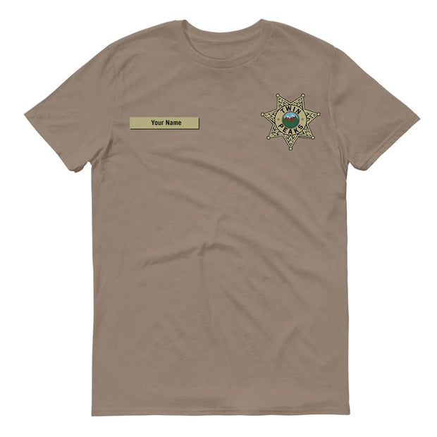 Twin Peaks Sheriff's Department Badge Personalized Adult Short Sleeve T-Shirt