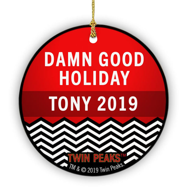 Twin Peaks Personalized Damn Good Holiday Double Sided Ornament