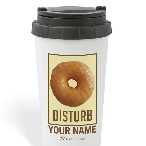 Twin Peaks Donut Disturb Glazed Personalized 16 oz Travel Mug