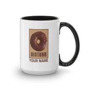 Twin Peaks Donut Disturb Chocolate Personalized 15 oz Two-Tone Mug