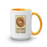 Twin Peaks Donut Disturb Glazed Personalized 15 oz Two-Tone Mug