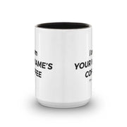 Twin Peaks Dougie's Personalized 15 oz Two-Tone Mug