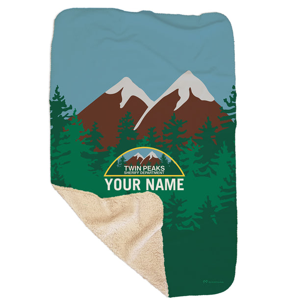 "Twin Peaks Sheriff's Department Personalized Sherpa Blanket - 37"" x 57"""