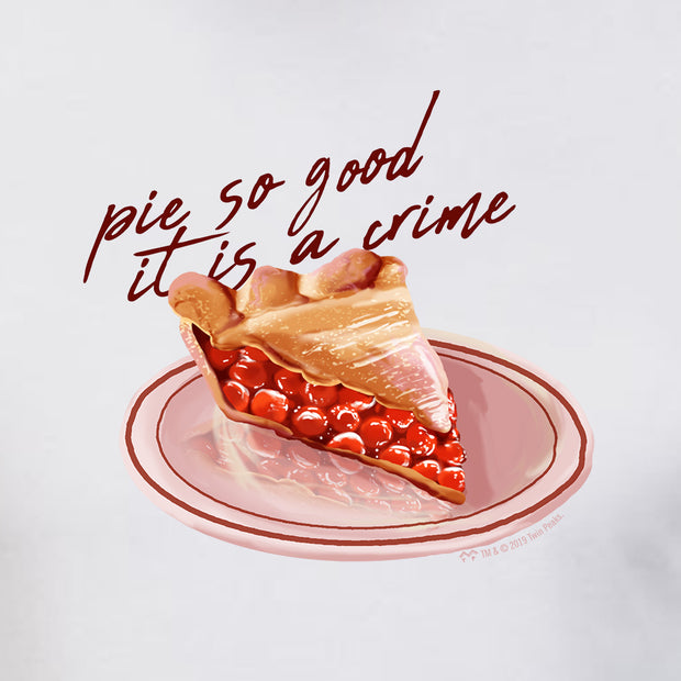 Twin Peaks Pie So Good it is a Crime Adult Short Sleeve T-Shirt