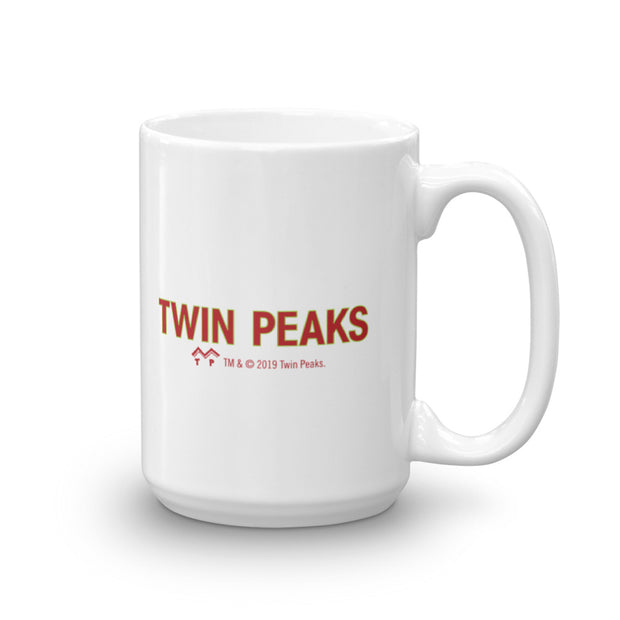 Twin Peaks Pie So Good it is a Crime White Mug