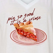 Twin Peaks Pie So Good it is a Crime Women's Relaxed V-Neck T-Shirt