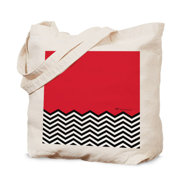 Twin Peaks Red Room Chevron Canvas Tote Bag