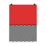 "Twin Peaks Red Room Chevron Premium Poster - 18"" x 24"""