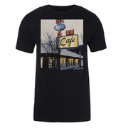 Twin Peaks Double R Diner Vintage Picture Adult Short Sleeve T-Shirt