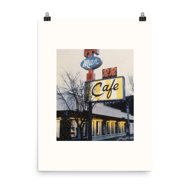 Twin Peaks Double R Diner Vintage Picture Premium Poster