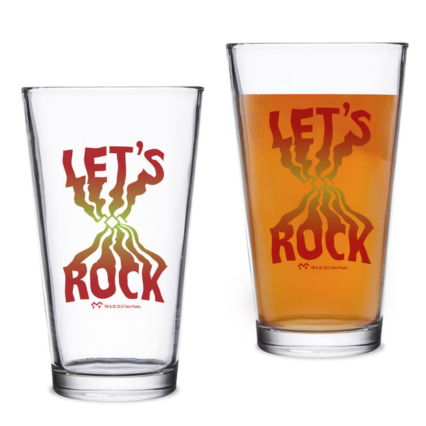 Twin Peaks Let's Rock 16 oz Pint Glass