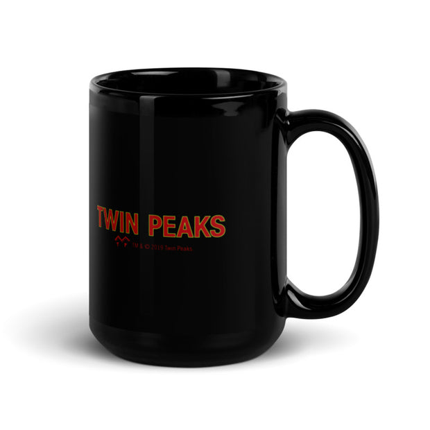 Twin Peaks Let's Rock Black Mug
