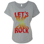 Twin Peaks Let's Rock Women's Tri-Blend Dolman T-Shirt