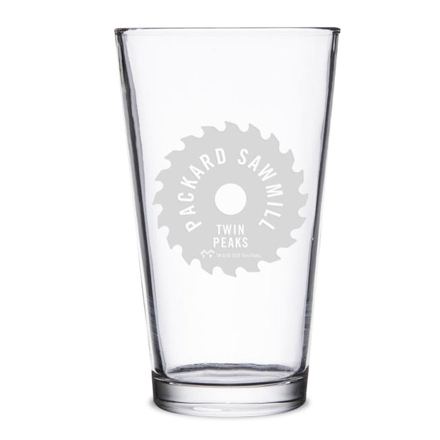 Twin Peaks Packard Sawmill Blade 16 oz Laser Engraved Pint Glass