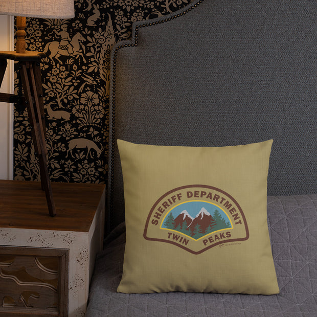 "Twin Peaks Sheriff's Department Throw Pillow - 16"" x 16"""