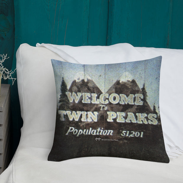 "Twin Peaks Welcome to Twin Peaks Throw Pillow - 16"" x 16"""