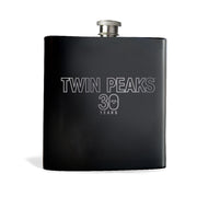 Twin Peaks 30th Anniversary Logo Laser Engraved Flask