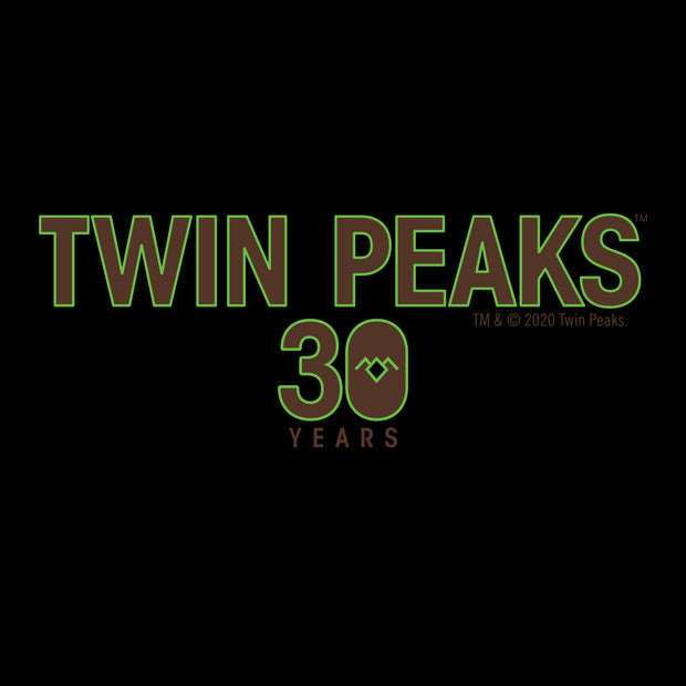 Twin Peaks 30th Anniversary Logo Black Mug