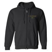Twin Peaks 30th Anniversary Logo Fleece Zip-Up Hooded Sweatshirt