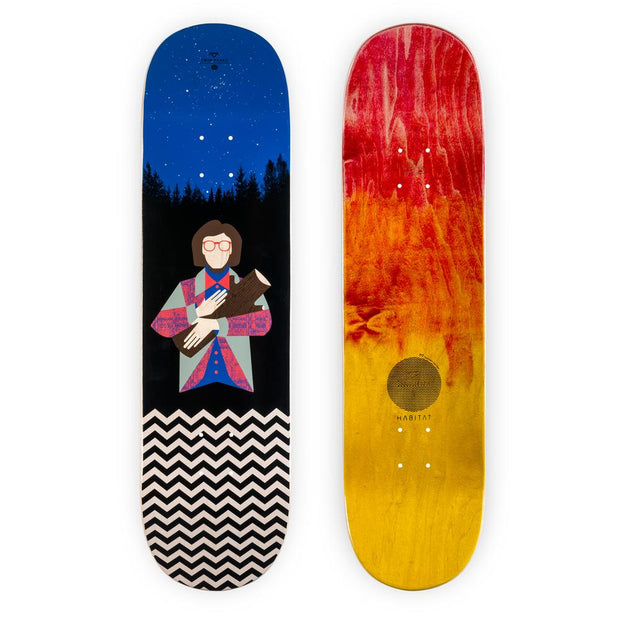 Twin Peaks Log Lady 8.375 Skateboard Deck