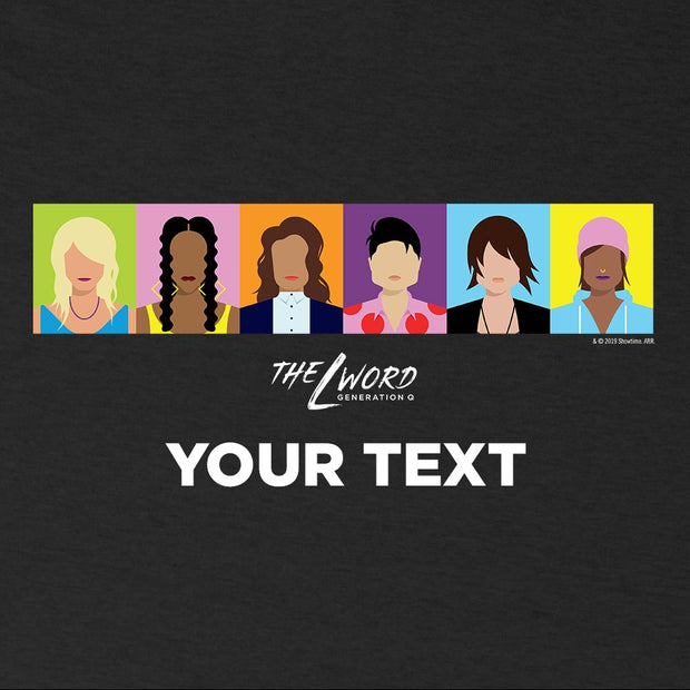 The L Word: Generation Q Personalized Horizontal Faces Women's Tri-Blend T-Shirt