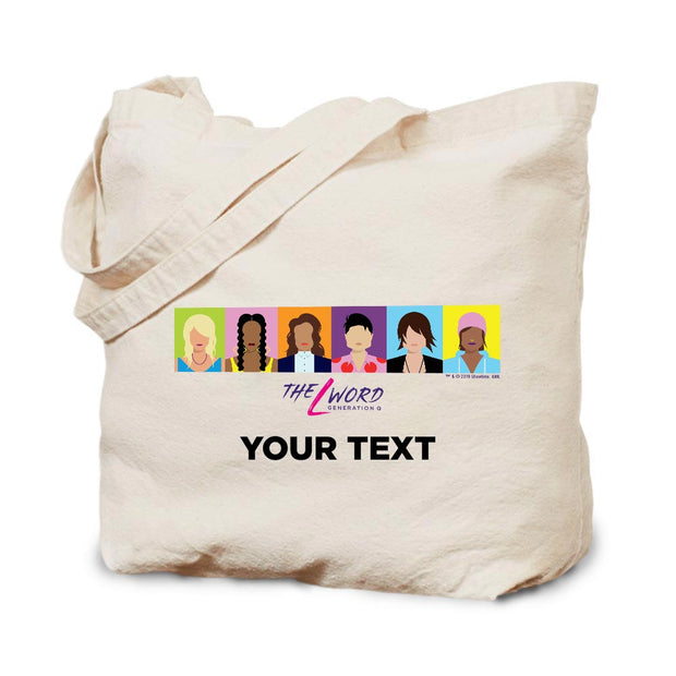 The L Word: Generation Q Personalized Horizontal Faces Canvas Tote Bag