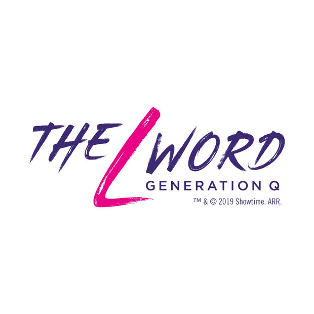 The L Word: Generation Q Logo Adult V-Neck T-Shirt