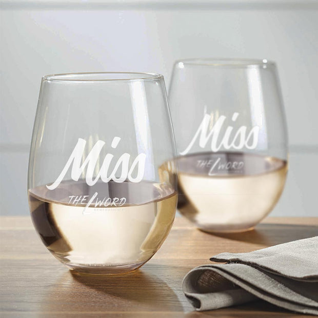 The L Word: Generation Q Personalized Personal Title Wine Glasses - Set of 2