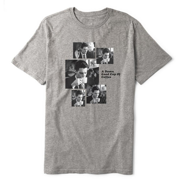 Twin Peaks Agent Cooper Coffee Sequence Adult Short Sleeve T-Shirt