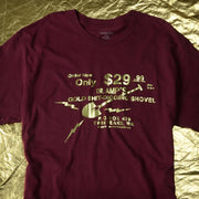 Twin Peaks Dr. Amp's Gold Foil Shovel Adult Short Sleeve T-Shirt