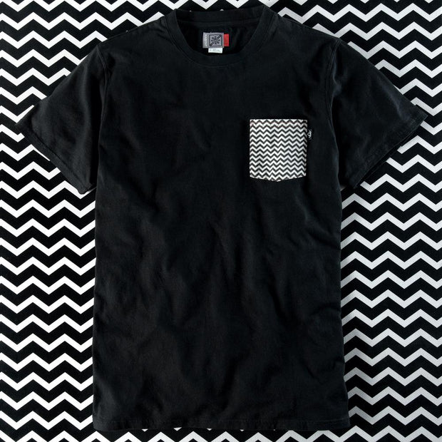 Twin Peaks Chevron Pocket Adult Short Sleeve T-Shirt