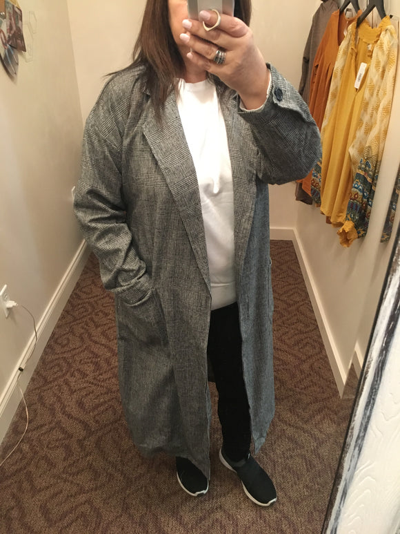 Herringbone Swing Coat