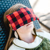 Red Plaid Flannel Eye Pillow