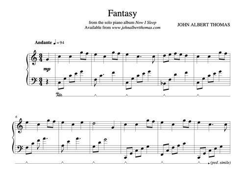 Fantasy - Sheet Music
