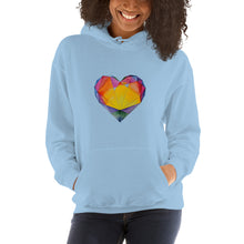 "Load image into Gallery viewer, ""Light of Dawn"" Heart Unisex Hoodie"