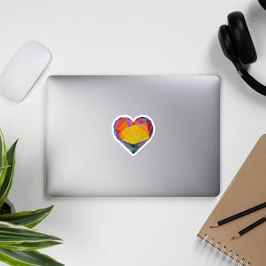 """Light of Dawn"" Heart Stickers"