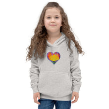 "Load image into Gallery viewer, ""Light of Dawn"" Heart Kids Hoodie"