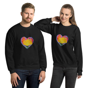 """Light of Dawn"" Heart Unisex Sweatshirt"