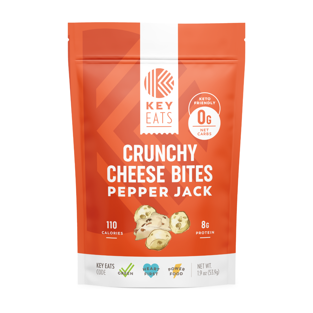 Key Eats Crunchy Cheese Bites - Pepper Jack - 3 Pack