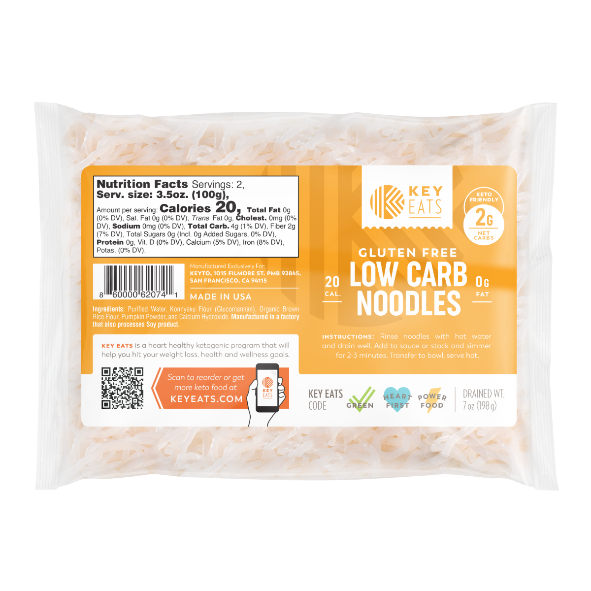 Key Eats Low Carb Keto Noodles - 4 Pack