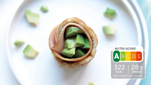Avocado-Schinken-Wrap