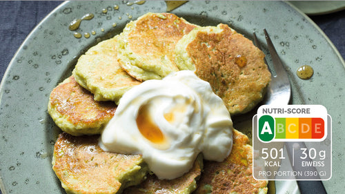 Selbstgemachte Avocado Pancakes