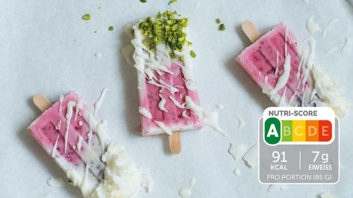 Low Carb Beeren-Eis am Stiel
