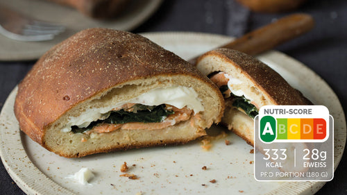 Low Carb Calzone mit Lachs
