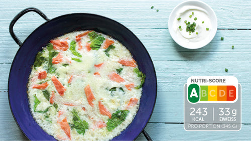 Low Carb Omelette mit Lachs und Spinat
