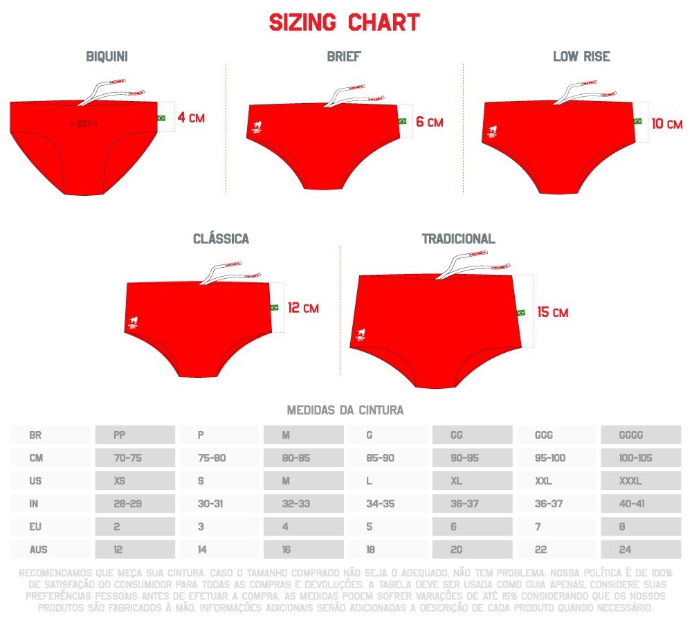 SIZING CHART BR
