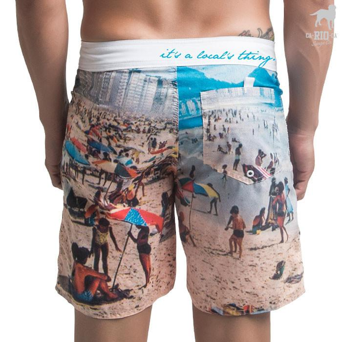 Mid Short COPA 60s Estampada Tropical retrô